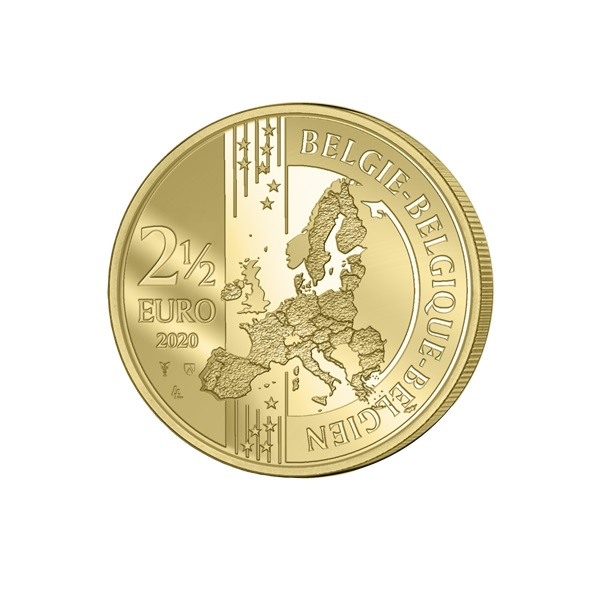 (EUR02.ComBU&BE.2020.250.BU.COM1) 2.5 euro Belgium 2020 BU - Peace - French legend Obverse (zoom)