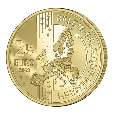 (EUR02.ComBU&BE.2020.250.BU.COM1) 2,5 euro Belgique 2020 BU - Paix - Légende française Avers