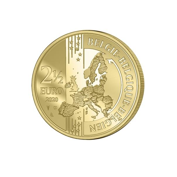 (EUR02.ComBU&BE.2020.250.BU.COM1.1) 2.5 euro Belgium 2020 BU - Peace - Flemish legend Obverse (zoom)