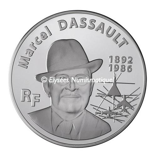 (EUR07.ComBU&BE.2010.10000.BE.COM2) 100 euro France 2010 Proof silver - Marcel Dassault Obverse (zoom)