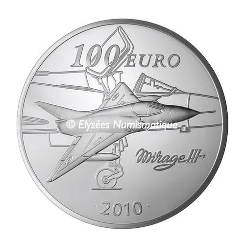 (EUR07.ComBU&BE.2010.10000.BE.COM2) 100 euro France 2010 Proof silver - Marcel Dassault Reverse (zoom)