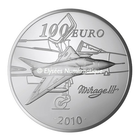 (EUR07.ComBU&BE.2010.10000.BE.COM2) 100 euro France 2010 argent BE - Marcel Dassault Revers