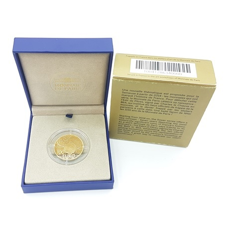 (EUR07.ComBU&BE.2014.10041286340000) 100 euro France 2014 or BE - Semeuse Revers
