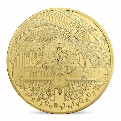 (EUR07.ComBU&BE.2016.10041299760000) 5 euro France 2016 Au BE - Musée d'Orsay et Petit Palais Avers