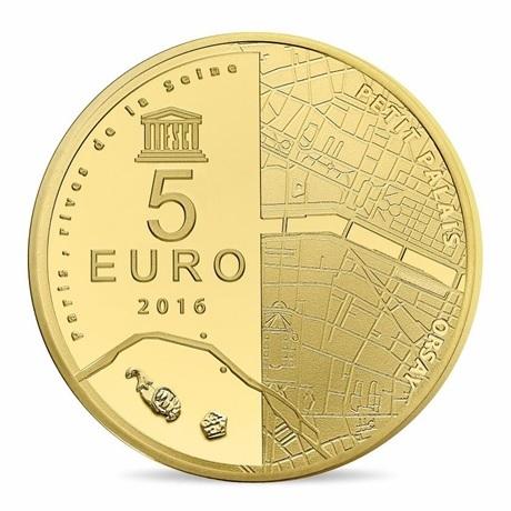 (EUR07.ComBU&BE.2016.10041299760000) 5 euro France 2016 Au BE - Musée d'Orsay et Petit Palais Revers