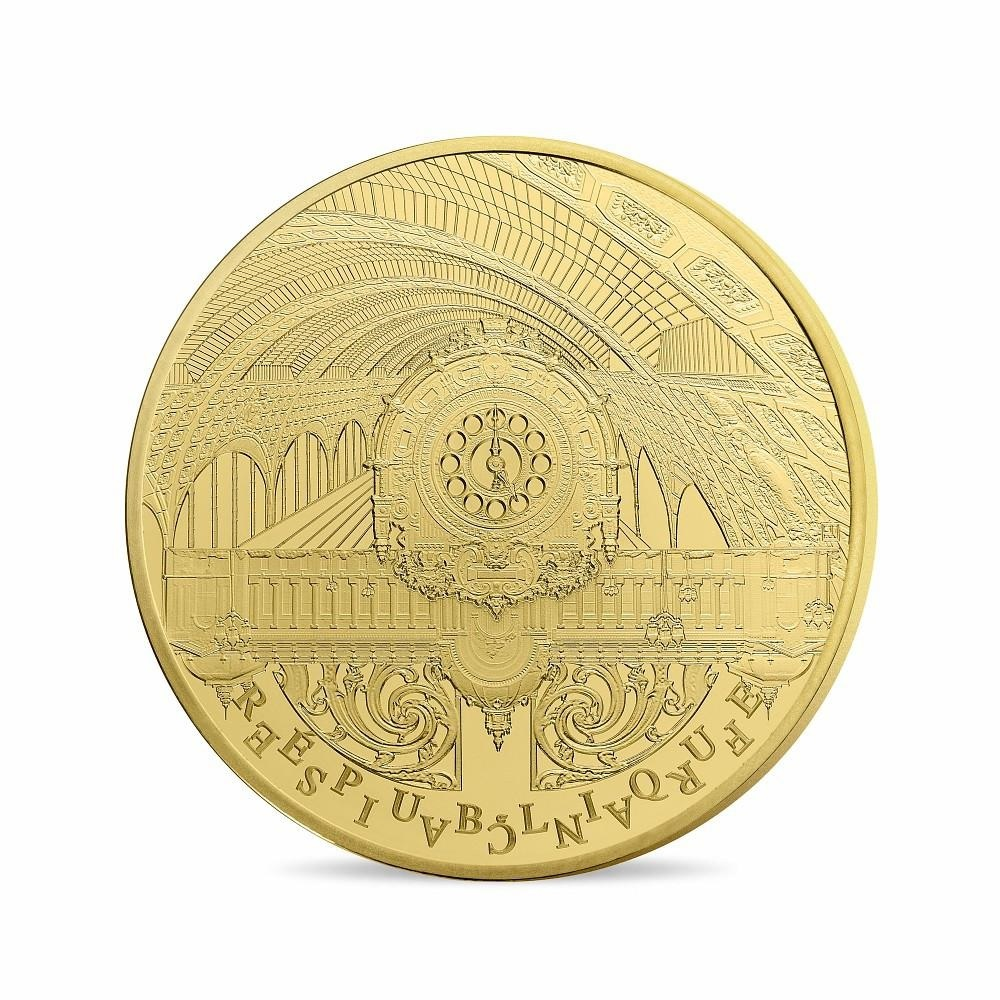 (EUR07.ComBU&BE.2016.10041299760000) 5 euro France 2016 Proof gold - Orsay Museum Obverse (zoom)
