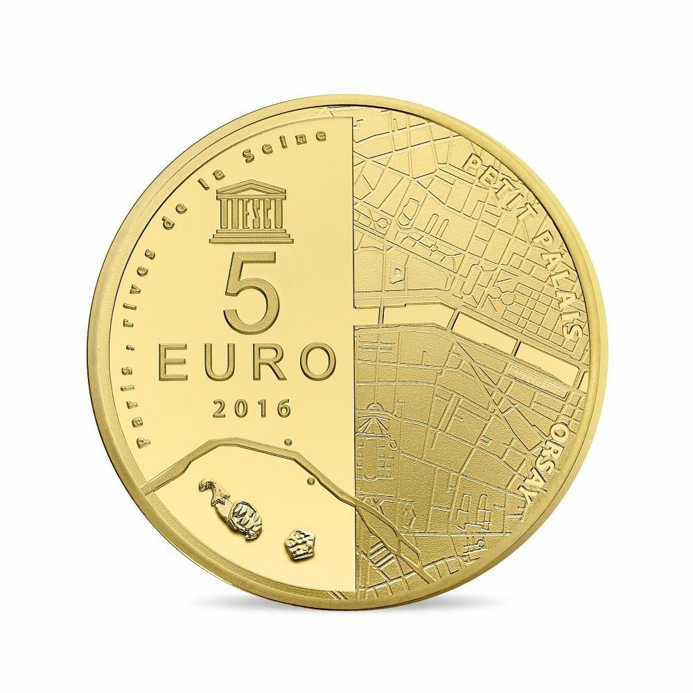 (EUR07.ComBU&BE.2016.10041299760000) 5 euro France 2016 Proof gold - Orsay Museum Reverse (zoom)
