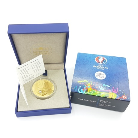 (EUR07.ComBU&BE.2016.10041300610000) 200 euro France 2016 or BE - UEFA Euro 2016 Avers