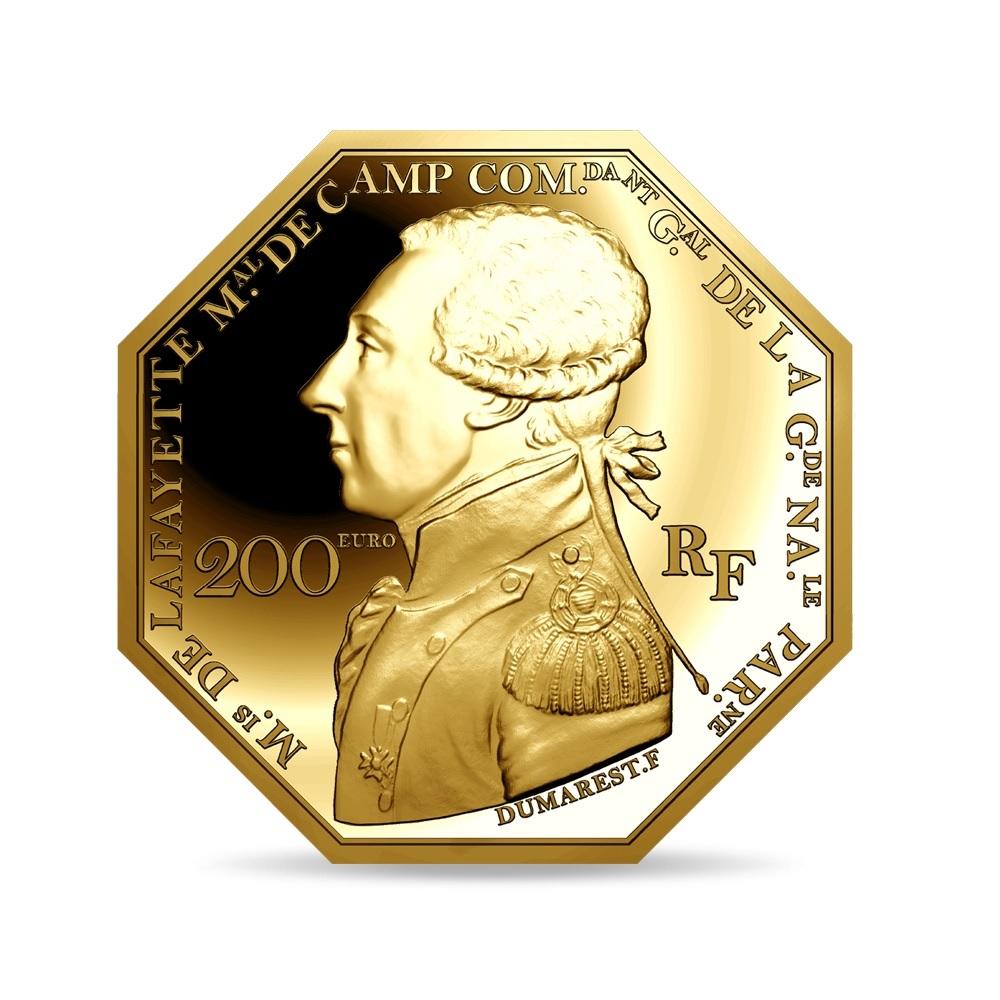 (EUR07.ComBU&BE.2020.10041344010000) 200 euro France 2020 Proof Au - Lafayette Obverse (zoom)