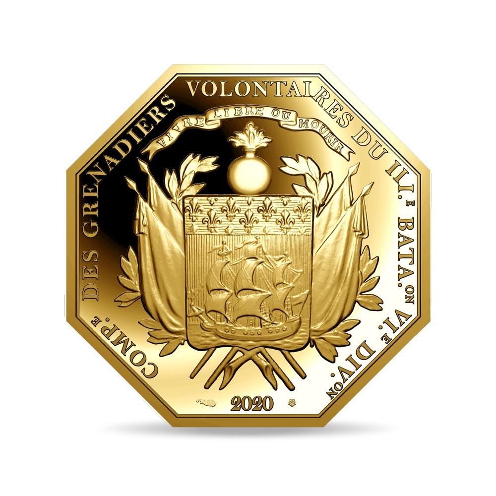 (EUR07.ComBU&BE.2020.10041344010000) 200 euro France 2020 Proof Au - Lafayette Reverse (zoom)
