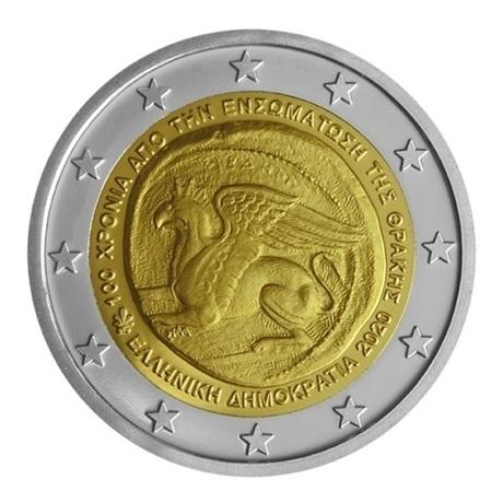 (EUR08.ComBU&BE.2020.200.BE.COM2) 2 euro Grèce 2020 BE - Union de la Thrace Avers