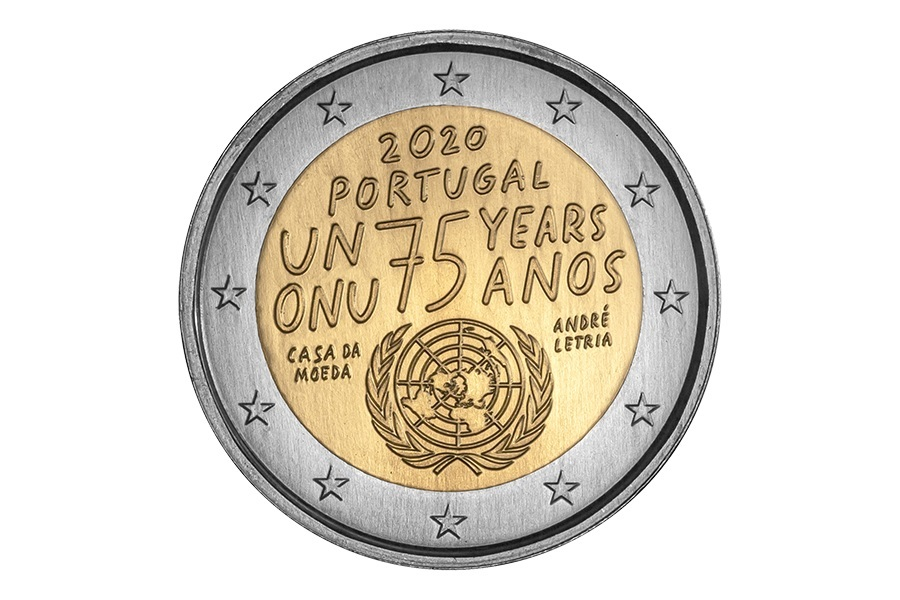 (EUR15.200.2020.12500502) 2 euro Portugal 2020 - United Nations Obverse (zoom)