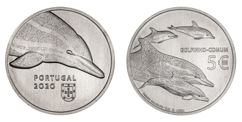 (EUR15.500.2020.12500511) 5 euro Portugal 2020 - Dolphin (zoom)