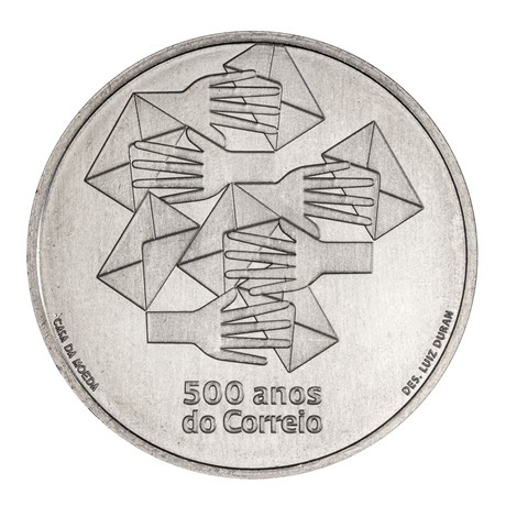 (EUR15.500.2020.12500531) 5 euro Portugal 2020 - Bureau de Poste Revers