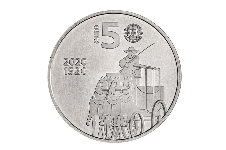 (EUR15.500.2020.12500531) 5 euro Portugal 2020 - Post office Obverse (zoom)