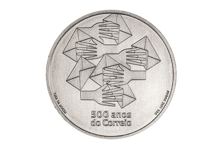 (EUR15.500.2020.12500531) 5 euro Portugal 2020 - Post office Reverse (zoom)