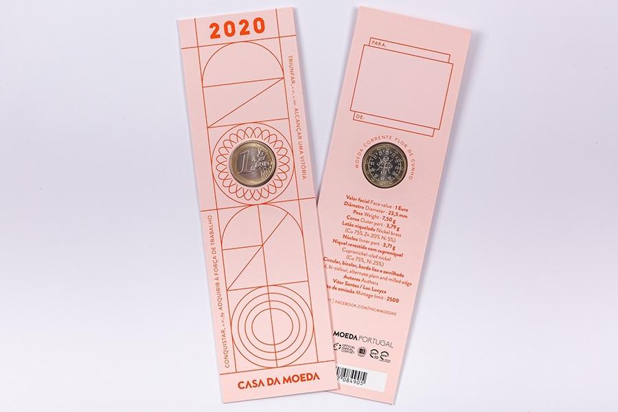 (EUR15.ComBU&BE.2020.1022061) Bookmark 1 euro Portugal 2020 FDC - Graduation (obverse & reverse) (zoom)
