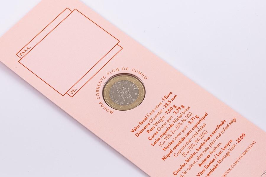 (EUR15.ComBU&BE.2020.1022061) Bookmark 1 euro Portugal 2020 FDC - Graduation (obverse) (zoom)