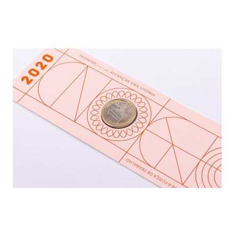 (EUR15.ComBU&BE.2020.1022061) Marque-page 1 euro Portugal 2020 FDC - Diplôme (revers)