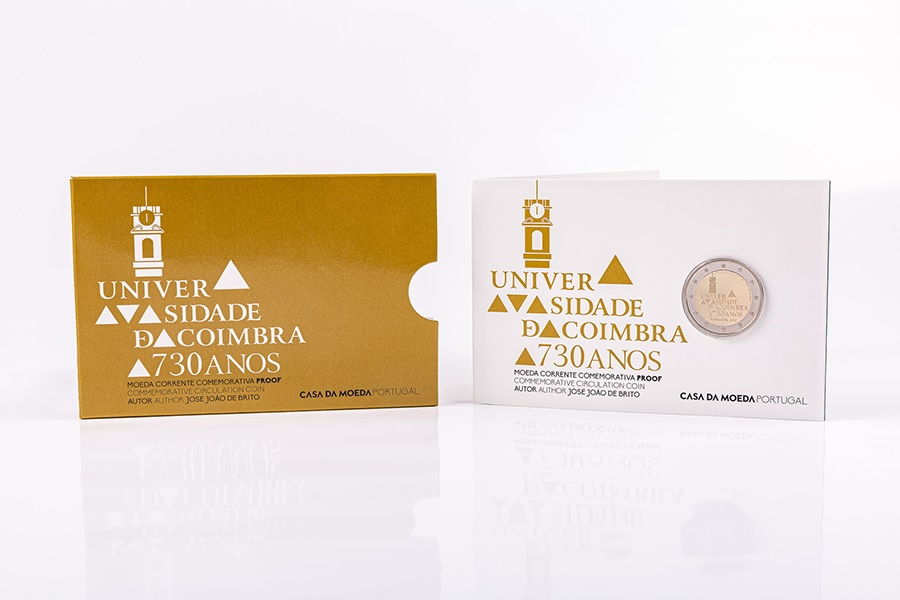 (EUR15.ComBU&BE.2020.1024126) 2 euro Portugal 2020 Proof - University of Coimbra (packaging) (zoom)