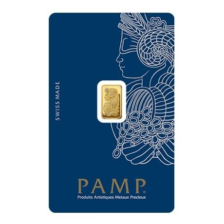(LIN.PAMP.1.au.ZAUFS00067) Lingot or 1 gramme PAMP - Fortuna (blister certifié) Recto