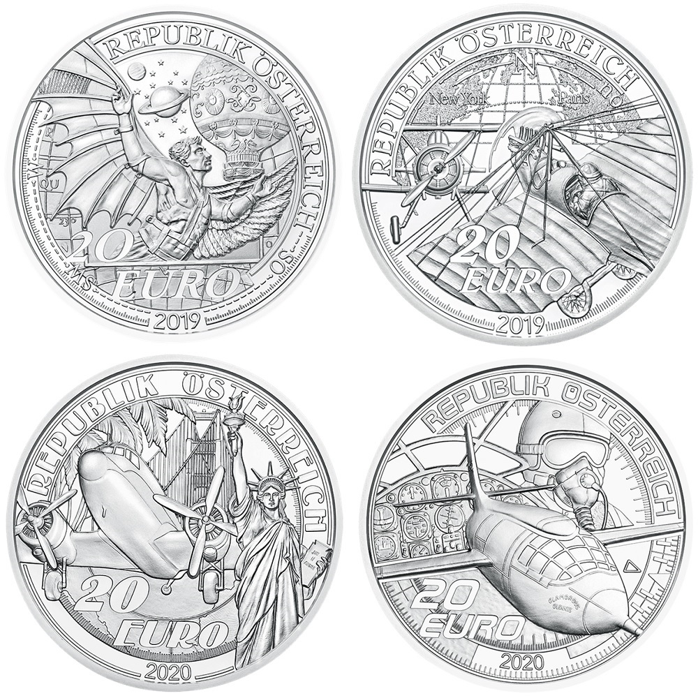 (LOT.EUR01.ComBU&BE.23608.à.24600) 20 euro Austria Proof silver - Reaching for the sky Obverses (zoom)