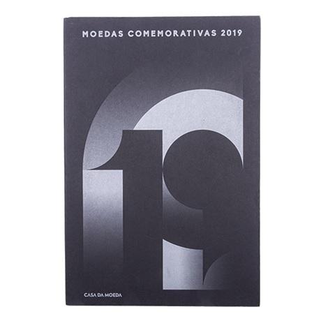 (MAT.INCM.Alb&feu.Alb.7002967) Album collector Monnaie du Portugal - Millésime 2019 Recto