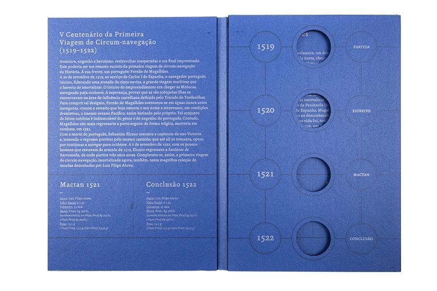 (MAT.INCM.Alb&feu.Alb.7002992) Collector album Portuguese Mint - Magellan (inside) (zoom)