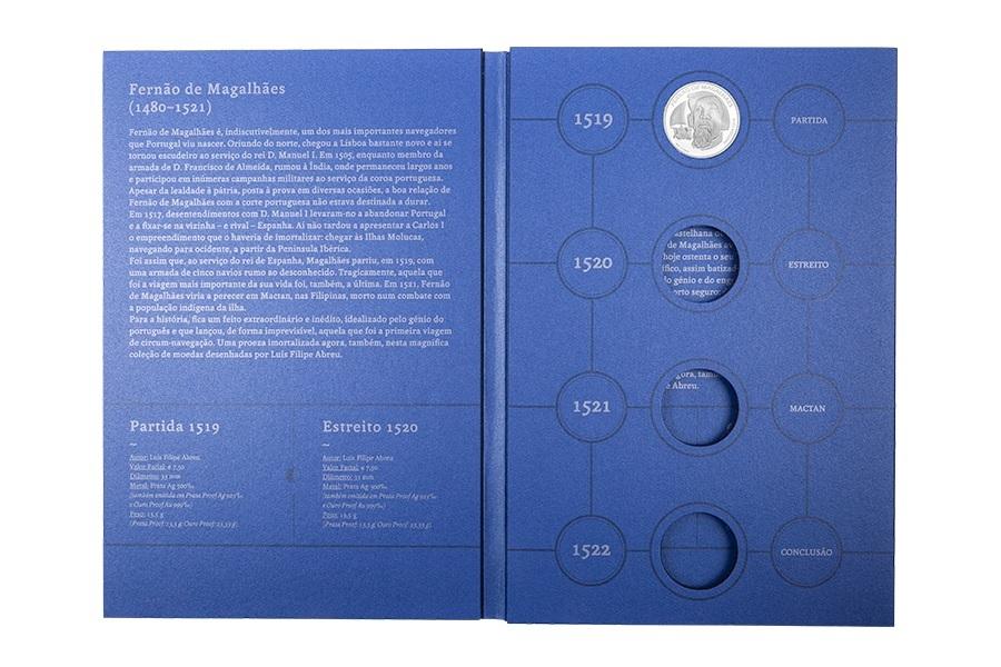 (MAT.INCM.Alb&feu.Alb.7002992) Collector album Portuguese Mint - Magellan (open) (zoom)