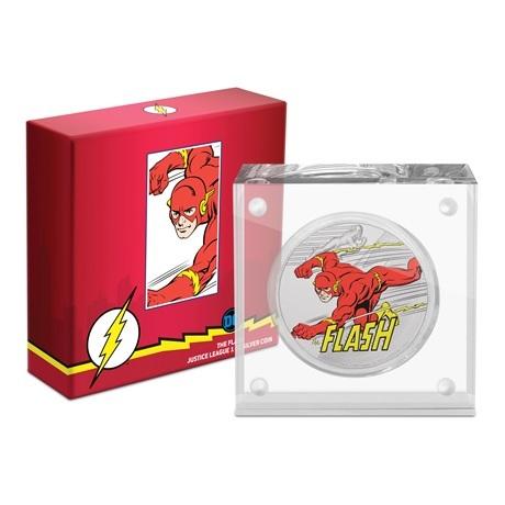 (W160.200.2020.30-00929) 2 Dollars Niue 2020 1 once argent BE - Flash (socle et boîte)