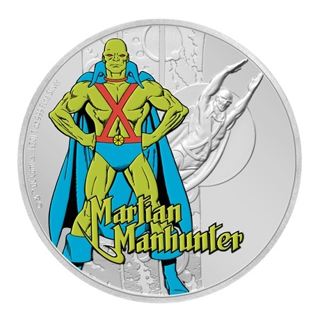(W160.200.2020.30-00930) 2 Dollars Niue 2020 1 once argent BE - Martian Manhunter Revers