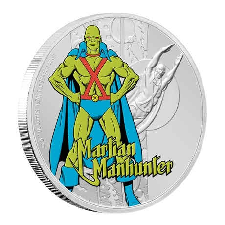 (W160.200.2020.30-00930) 2 Dollars Niue 2020 1 once argent BE - Martian Manhunter (tranche)