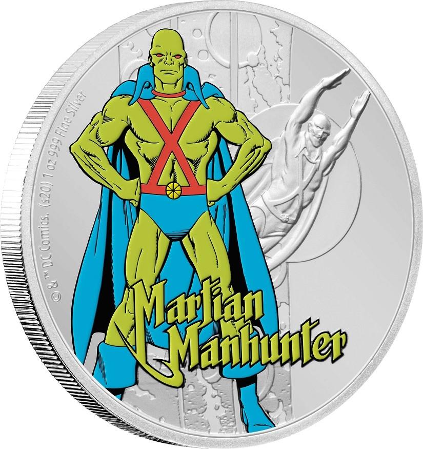 (W160.200.2020.30-00930) 2 Dollars Niue 2020 1 oz Proof silver - Martian Manhunter (edge) (zoom)