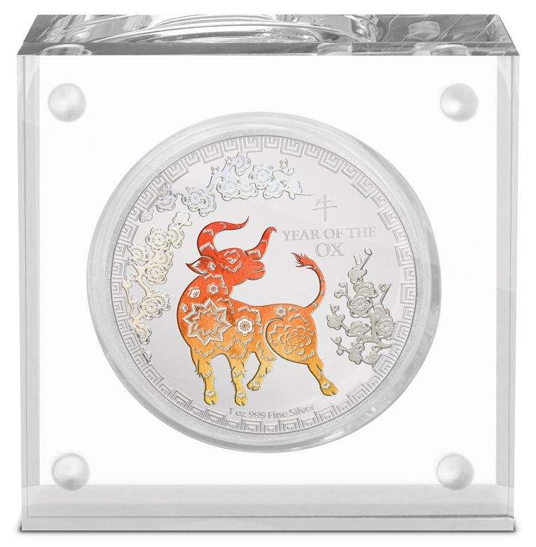 (W160.200.2021.30-00984) 2 Dollars Niue 2021 1 oz Proof silver - Year of the Ox (base) (zoom)