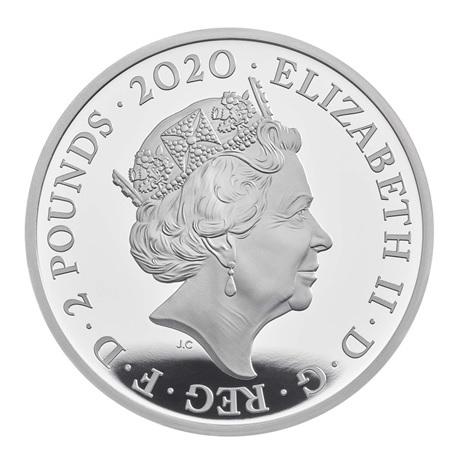 (W185.200.2020.UK20EJ1S) 2 Pounds Royaume-Uni 2020 1 once argent BE - Elton John Avers