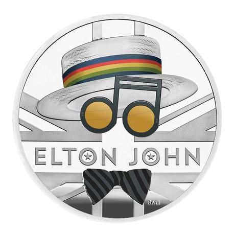 (W185.200.2020.UK20EJ1S) 2 Pounds Royaume-Uni 2020 1 once argent BE - Elton John Revers