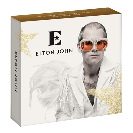 (W185.200.2020.UK20EJ1S) 2 Pounds Royaume-Uni 2020 1 once argent BE - Elton John (boîte)