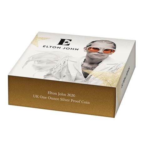 (W185.200.2020.UK20EJ1S) 2 Pounds Royaume-Uni 2020 1 once argent BE - Elton John (packaging)
