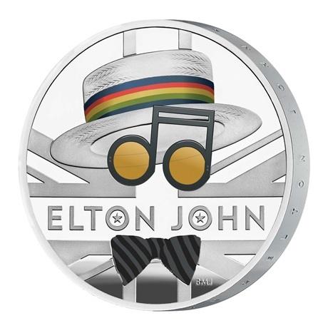(W185.200.2020.UK20EJ1S) 2 Pounds Royaume-Uni 2020 1 once argent BE - Elton John (tranche)