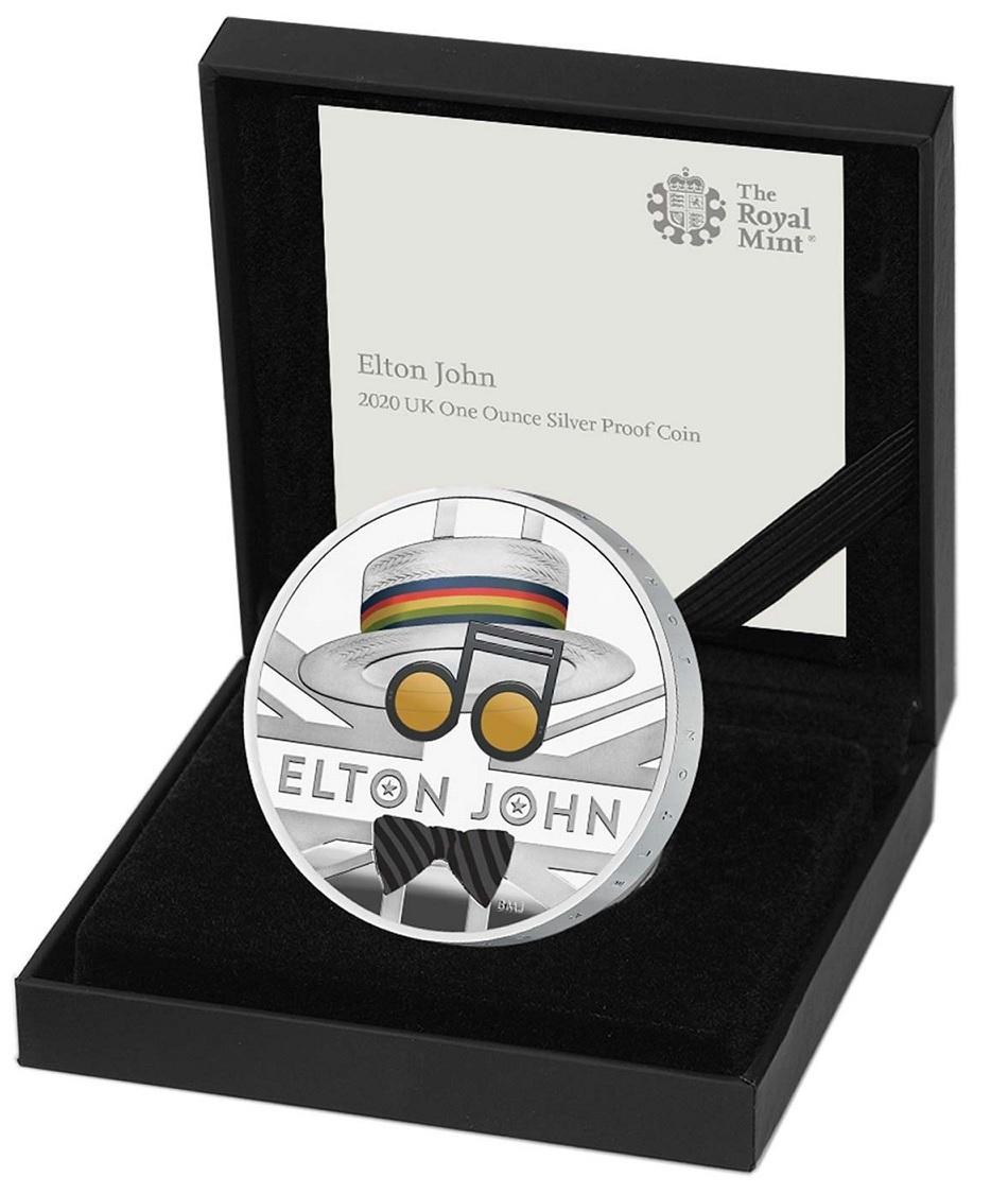 (W185.200.2020.UK20EJ1S) 2 Pounds United Kingdom 2020 1 oz Proof silver - Elton John (case) (zoom)