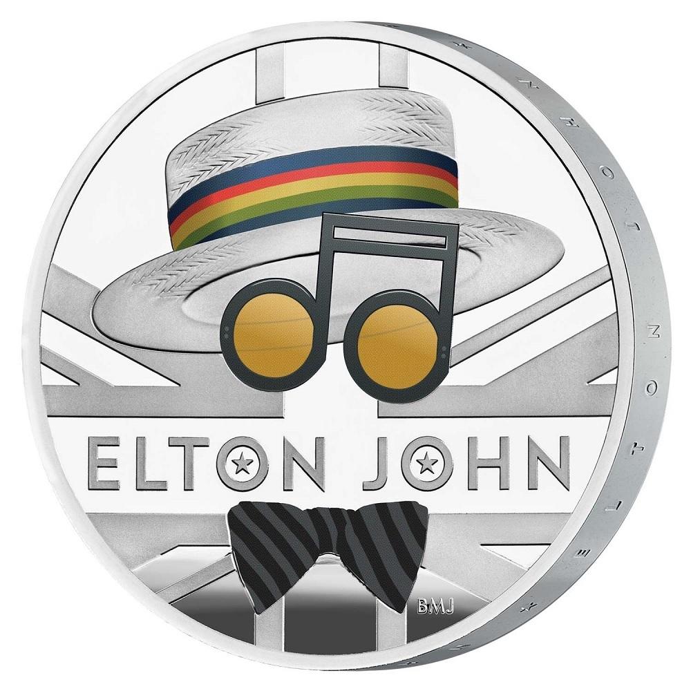(W185.200.2020.UK20EJ1S) 2 Pounds United Kingdom 2020 1 oz Proof silver - Elton John (edge) (zoom)