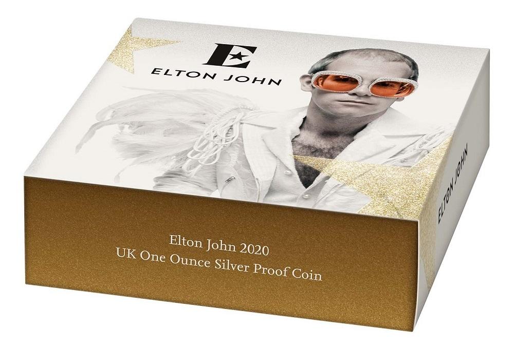 (W185.200.2020.UK20EJ1S) 2 Pounds United Kingdom 2020 1 oz Proof silver - Elton John (packaging) (zoom)