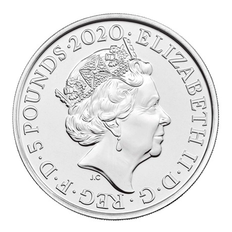 (W185.500.2020.UK20E1BU) 5 Pounds Elton John 2020 BU Avers