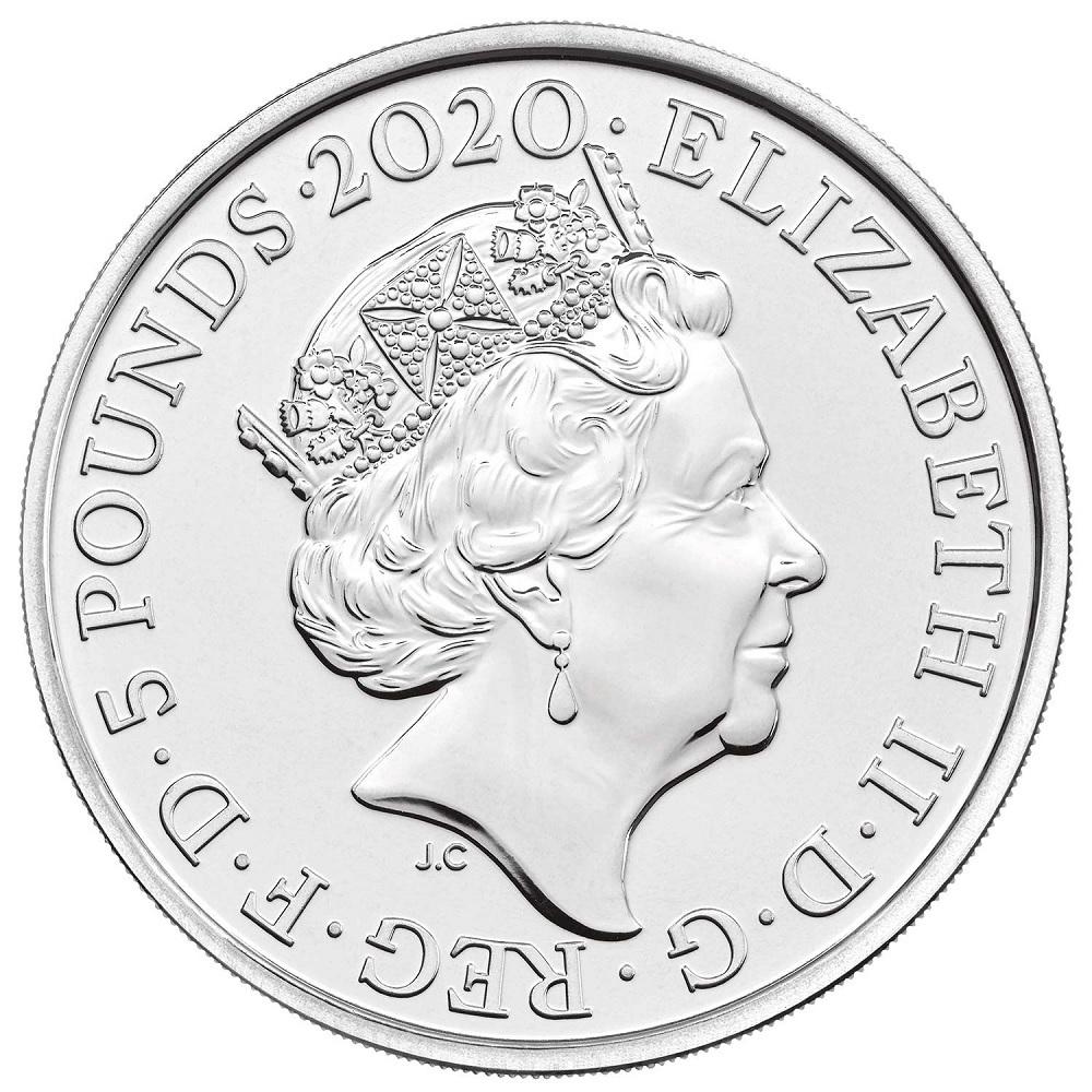 (W185.500.2020.UK20E1BU) 5 Pounds Elton John 2020 BU Obverse (zoom)