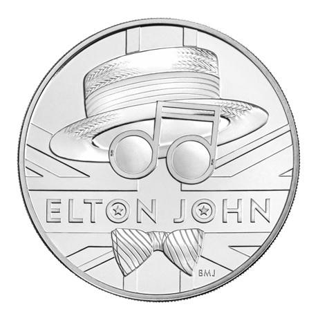(W185.500.2020.UK20E1BU) 5 Pounds Elton John 2020 BU Revers