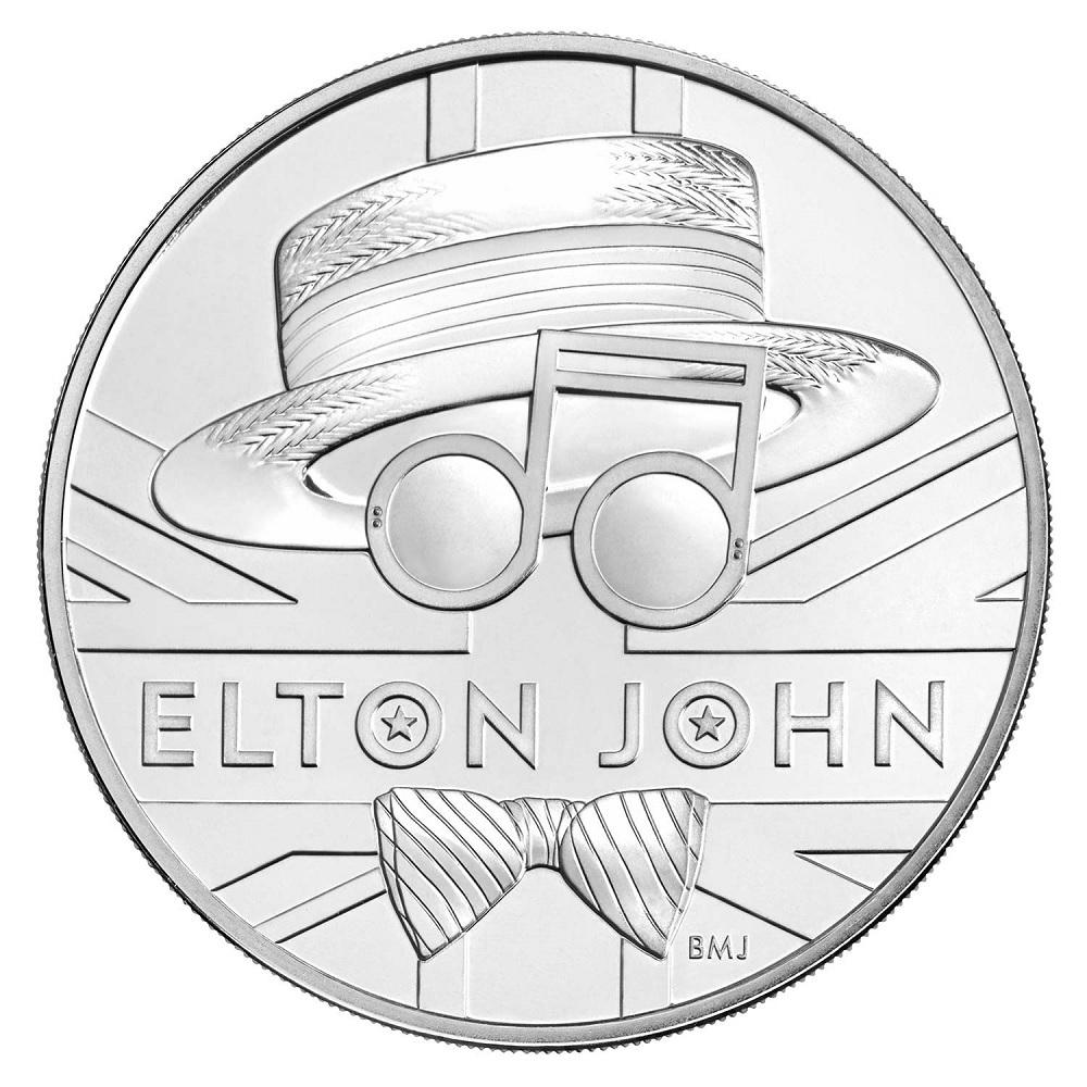 (W185.500.2020.UK20E1BU) 5 Pounds Elton John 2020 BU Reverse (zoom)