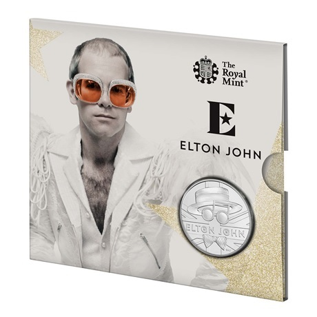 (W185.500.2020.UK20E1BU) 5 Pounds Elton John 2020 BU (packaging)