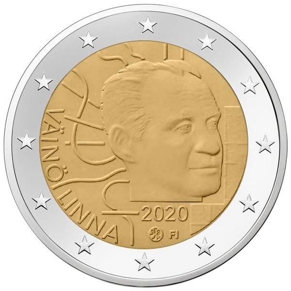 2 euro Finland 2020 - Väinö Linna (zoom)