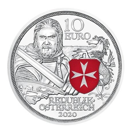 (EUR01.ComBU&BE.2020.24606) 10 euro Autriche 2020 argent BE - Force et courage Avers