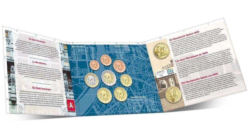 (EUR02.CofBU&FDC.2020.Cof-BU) BU coin set Belgium 2020 (Antwerp) (inside) (zoom)